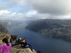 Do you dare sit on the edge at Preikestolen? (Norway)