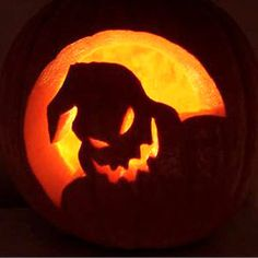 Nightmare before Christmas oogie boogie pumpkin