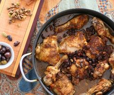 Chicken Tangine with Raisins & Pistachios. I'd have to make it without the raisins!!