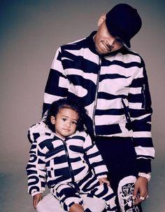 Chris brown and his daughter Royalty