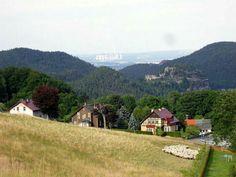 Wahnsinnsaufnahme über Berg Oybin bis Kraftwerk Turow/Polen von Jens Friedländer