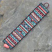 """""""African Motifs"""" Bracelet - Peyote Beadwork Pattern  #heartbeadwork"""