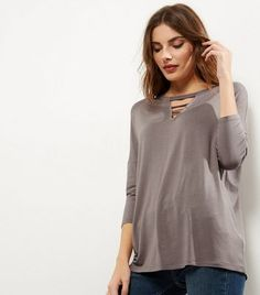 Mink Strap Front 3/4 Sleeve Top