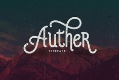 Auther Typeface by Seniors on Creative Market