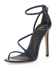 d74c03924a4f B Brian Atwood Labrea Metallic Snake Sandal