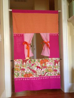 Doorway Puppet Theatre in Animal Print on Etsy, $98.00