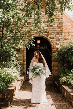 Stunning bridal portrait captured outside Clark Gardens' Chapel, in May. Photo Credit: The Burrow Clark Gardens, Bridal Portraits, Photo Credit, Wedding Day, Wedding Dresses, Fashion, Pi Day Wedding, Bride Dresses, Moda