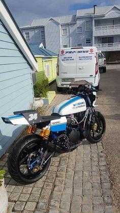 Suzuki Gsx 750, Suzuki Bikes, Suzuki Cafe Racer, Suzuki Motorcycle, Cafe Racer Bikes, Custom Street Bikes, Custom Bikes, Cafe Racer Parts, Cafe Racing