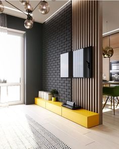 Modern Home Living Room Design. Modern Home Living Room Design. Shades Gray the nordic Feeling Living Room Tv Unit, Home Living Room, Living Room Designs, Living Room Decor, Living Room Divider, Living Room Wall Ideas, Living Room Walls, Room Divider Walls, Dining Room