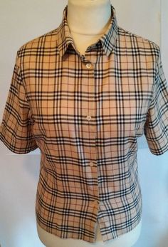 Burberry London blouse fastens with buttons CLASSIC SIZE 14 #Burberry #ButtonDownShirt #Work