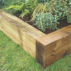 Raised Garden Border Ideas pavers inserted lengthwise into the ground create a strong and long lasting garden edging Jumbo Garden Sleeper 24m Garden Sleepers Raised Bed Kits Fencing Gardens