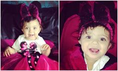 A'Layah in 1st Birthday Minnie Mouse LR Designs Tutu Boutique October 2014