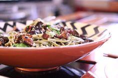 Green tea noodles, aubergine, mange tout & cardamom Noodles, Cabbage, Lime, Tea, Vegetables, Green, Food, Macaroni, Limes