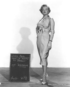 "Marilyn in a costume test for ""As Young As You Feel"", 1951."