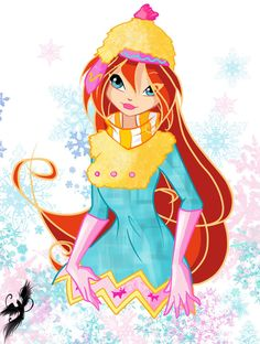 Bloom in winter costume Style - winx club Author - fantazyme Bloom winter Bloom Winx Club, Punk Princess, Princess Zelda, Pixie, Real Fairies, Girls Are Awesome, Dreamworks Dragons, Princess Celestia, Fantasy Dragon