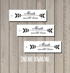 Download digital tag made with love/ etichette di Lovelyprintable