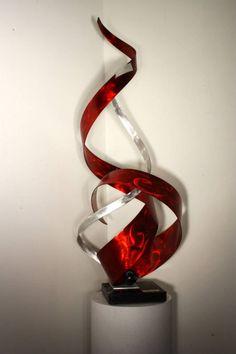 Metal Art Abstract Table Sculpture Decor by MetalSculptureLand