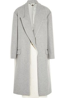 Stella McCartney Curtis oversized two-tone wool-blend felt coat | THE OUTNET