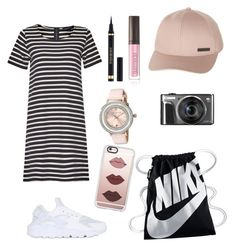"""""""sport & chic outfit"""" by talfashion ❤ liked on Polyvore featuring NIKE, French Connection, Billabong, Ted Baker, Yves Saint Laurent, Laura Mercier and Casetify"""