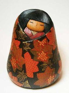 "Creative Kokeshi wooden base doll Watanabe Yuji work ""AkiSo"", ""Senior Market Rakuten"""