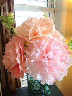 Summer 2013: Coffee filter flowers