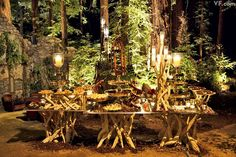 beautiful rustic service at Middle Earth theme wedding