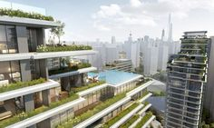Image 1 of 32 from gallery of CITIC Pacific High-Rise Development in Shanghai Beautifully Combines Natural With The Artificial. Courtesy of EID