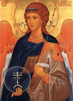 Gabriel we love you! Byzantine Icons, Byzantine Art, Religious Icons, Religious Art, Greek Icons, Russian Icons, Biblical Art, Catholic Art, Art Icon
