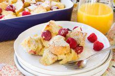 Lemon Raspberry French Toast Casserole