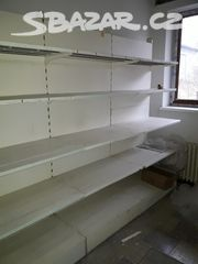 Regály - skládací celkem cca 20m - Olomouc - Sbazar.cz Stove, Lab, Bookcase, Shelves, Home Decor, Shelving, Decoration Home, Range, Room Decor