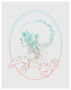 """Digital drawing by Kelly McKernan available in two variants as 11"""" x 14"""" limited edition prints."""
