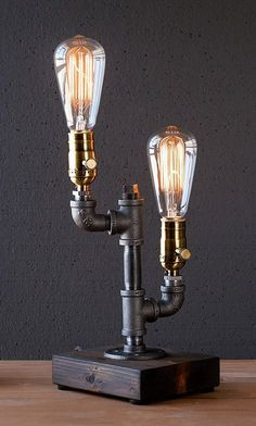 Vintage furniture ideas diy projects pipe lamp 38 Ideas for can find Pipe lamp and more on our website.Vintage furniture ideas diy projects pipe lamp 38 Ideas for 2019 Lamp Design, Wood Lamps, Lamp, Diy Lamp, Vintage Industrial Decor, Edison Bulb, Diy Lighting, Wood Lamp Base, Vintage Lighting Diy