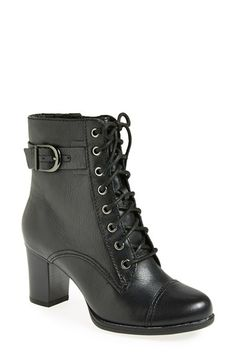 Free shipping and returns on Clarks® 'Jolissa Gypsum' Boot (Women) at Nordstrom.com. A lace-up front lends old-school style to a sturdy bootie with a chunky block heel.