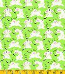 Easter Print Fabric-Bunnies On Green Glitter