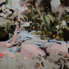 Alex Kanevsky, R.L. in the Trees, 2014 oil on panel 12 × 12 in 30.5 × 30.5 cm on ArtStack #alex-kanevsky #art