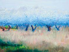 "SALLY RUDDY ""Ooh La La Bleu"" Oil on Canvas 30' x 40"" (36"" x 46"" framed)"