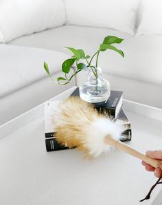 Siivousvinkki: Lampaanvillainen pölyhuiska   Omakotivalkoinen Diffuser