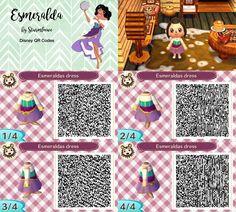 Disney Esmeralda dress for animal crossing qr code acnl