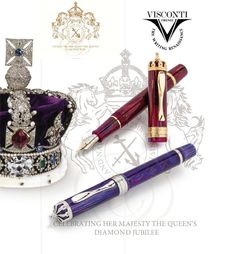 The Diamond Jubilee:  An International Celebration of Royalty, Heritage and Excellence.  Visconti  http://fpgeeks.com/2012/04/visconti-queen-elizabeth-diamond-jubilee-limited-edition-fountain-pen/