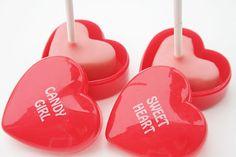 Valentine Party heart cake pop tutorial Skip To My Lou Heart Cookie Cutter, Heart Cookies, Valentines Day Cakes, Valentines Diy, Cake Pop Tutorial, Celebrate Good Times, Bite Size Desserts, Lollipop Sticks, Little Cakes