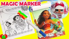 moana imagine ink coloring magic marker and lol surprise dolls with toy genie in this video i color in a moana imagine ink coloring book with a magic - Imagine Ink Coloring Book