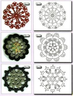 Crochet Examples Archives - Page 6 of 20 - Beautiful Crochet Patterns and Knitting Patterns Crochet Coaster Pattern, Crochet Doily Patterns, Crochet Blocks, Crochet Diagram, Crochet Chart, Crochet Squares, Crochet Motif, Crochet Doilies, Crochet Flowers