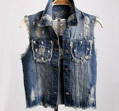 Brand New Skull Vest Jean Jacket, All Sizes.