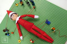 This idea took us a lot of time because It's cute but be warned. The Elf, Elf On The Shelf, Shelf Ideas, Lego, Shelves, Holiday Decor, Easy, Cute, Inspiration