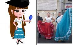 Chibi Argentina en traje típico