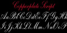 One of the most elegant script fonts available, this design is based on calligraphic handwriting called Copperplate because of the copper plates that it was etched into for reproduction. Top Free Fonts, Best Free Script Fonts, Free Fonts Download, New Fonts, Copperplate Calligraphy, Calligraphy Fonts, Typography Fonts, Free Fonts For Designers, Italic Font