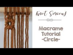 This is a really cool technique when you need a seamless circle or even to begin a curl or swirl nearly anywhere in your work. Be sure to slow down the playb. Tatting Jewelry, Macrame Jewelry, Macrame Knots, Micro Macrame, Macrame Wall Hanging Diy, Macrame Curtain, Chevron Friendship Bracelets, Macrame Design, Macrame Projects