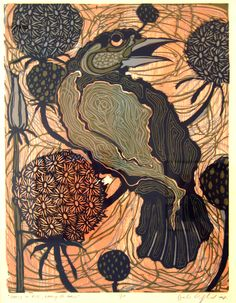 artist sven birger sandzen creek bank linoleum trees pinterest printmaking prints and. Black Bedroom Furniture Sets. Home Design Ideas