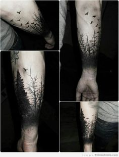 dark forest tattoo sleeve - Google Search