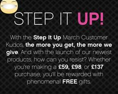 March Kudos is here! Free products with your purchases (minimum spend of £59 - visit my website for details) #makeup #freegifts #mothersday
